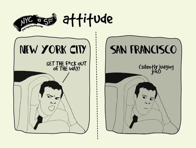 difference between new york and san francisco