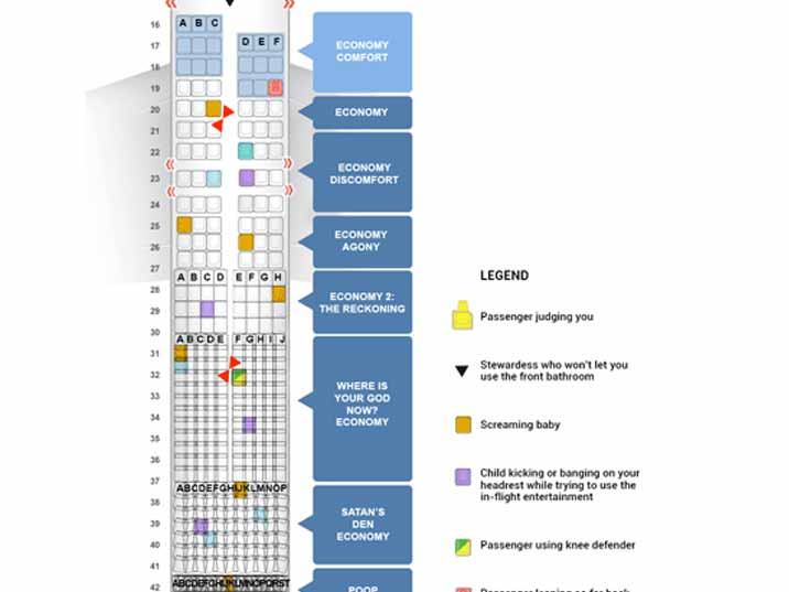 Delta s new airplane seating chart