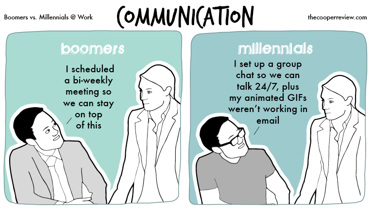 Boomers vs. Millennials at Work